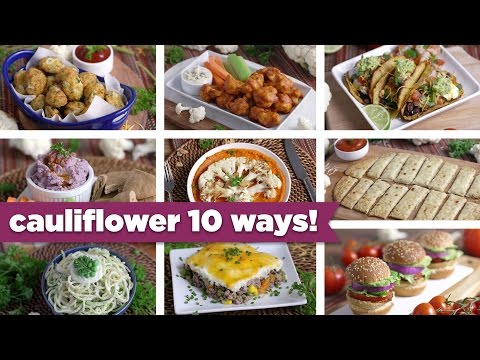 Video Cauliflower 10 Crazy Ways! Easy Healthy Recipes + FREE eBook! - Mind Over Munch