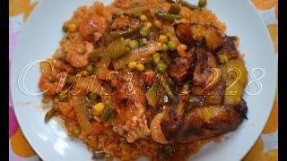 Riz au gras façon thieboudienne (Poisson&crevette)