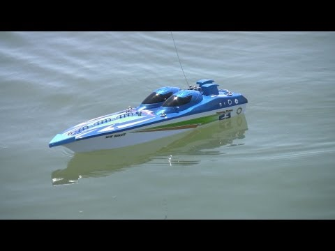 New Bright Fountain 23″ RC boat tested