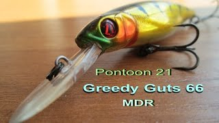 Воблер pontoon 21 greedy guts 66f-mdr