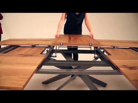 Mesa extensible 4x4 de Ozzio design