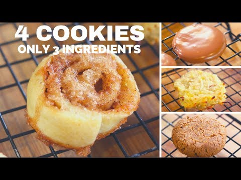 3 Ingredient Cookie Recipes You MUST Try!
