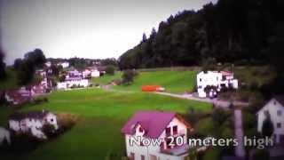 preview picture of video 'Parrot Drone 2.0 - First flight in Liechtenstein'