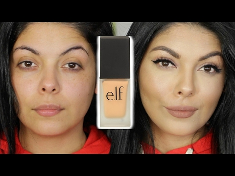 NEW ELF COSMETICS FLAWLESS FOUNDATION REVIEW FIRST IMPRESSION TUTORIAL