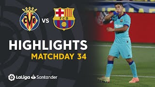 Impressive win for FC Barcelona at the Stadium De La Cerámica against Villarreal CF with thanks to the own goal of Pau Torres and the goals of Luis Suárez, Griezmann and Ansu Fati #VillarrealBarça Matchday 34 LaLiga Santander 2019/2020  Suscríbete al canal oficial de LaLiga Santander en HD http://goo.gl/Cp0tC