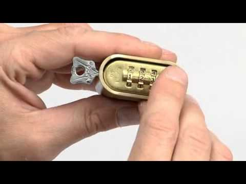 Screen capture of Operating the Master Lock high security combination locks