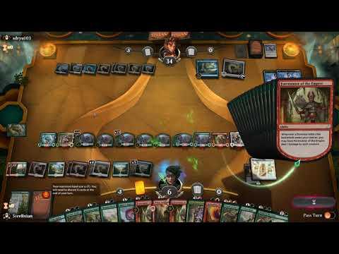 MTG Arena: Insane Polyraptor Combo! 14 copies - смотреть