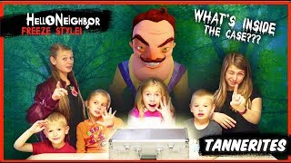 Hello Neighbor in Real Life Mystery Case! | Hello Neighbor Statues and Freeze!
