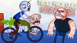 ТРОЛЛИМ ЛЮБИМЫЕ ВИДЕОИГРЫ! Веселая игра Troll Face Quest Video Games от Cool GAMES