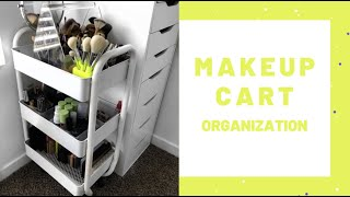 Affordable Makeup Storage | Cart Organization | Cleaning My Beauty Room