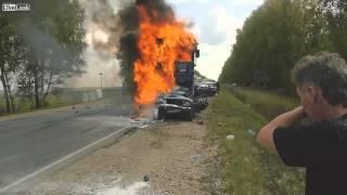 Заживо сгорел в автомобиле Лада