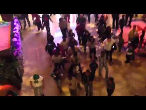 Dancing on saint Patrick's Day at Mohegan Sun.