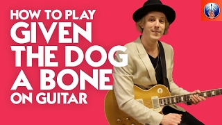 How to Play Givin the Dog a Bone on Guitar - AC DC Back in Black Lesson