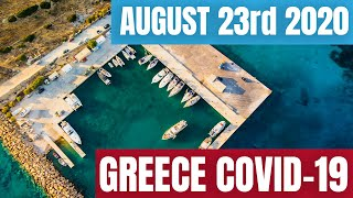 23rd August Travel Update GREECE COVID-19