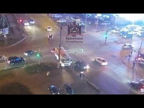 Взлетная - Весны - Аэровокзальная 12.10.2018 ЧП Красноярск