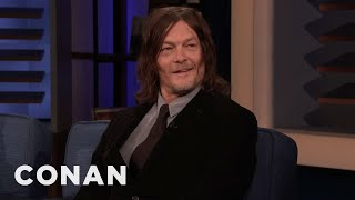 Norman Reedus Glitter-Filled Prank War With Andrew Lincoln - CONAN On TBS