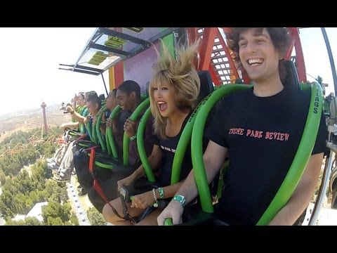 Lex Luthor Drop Of Doom World's Tallest Drop Ride Rider POV Six Flags Magic Mountain