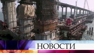 Строительство железнодорожной части Крымского моста в этом году выйдет на пиковую мощность.