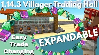 Minecraft Villager Trading Hall For 1.14.3+: Select & Change Your Trades As You Need (Avomance 2019)