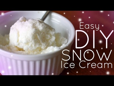 Video EASY Homemade Snow Ice Cream - NO MACHINE!