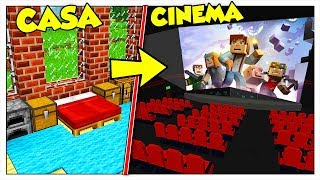 TRASFORMIAMO LA MIA CASA IN UN CINEMA! - Minecraft ITA