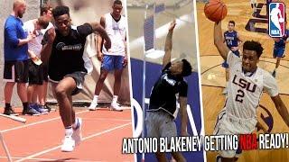 Antonio Blakeney NBA Pre-Draft Workout! LSU Star Tests Vertical, Agility & NBA Skills!