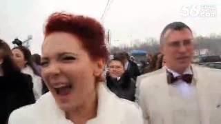 莫斯科街頭氣氛熱烈上演『小蘋果』