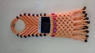 Macrame Mobile Holder | Simple Macrame Mobile Holder