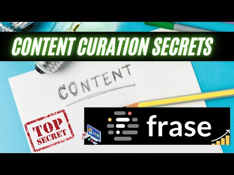 Content Curation With Frase IO 2021 | How To Find & Write Your Blog In 15 Min!