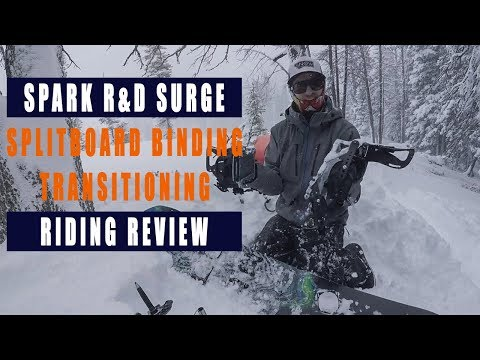 Spark R&D Surge Splitboard Binding Transitioning | Riding | Review Part 1