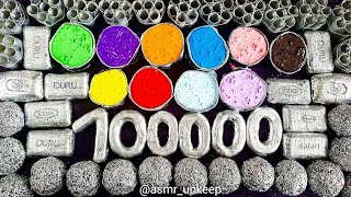 100000 subscriber 💕 ASMR soap & slime. Crushing soap balls, soap curls, soap boxes with slime.