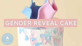 GENDER REVEAL Cake With An Isomalt Sail! | Georgias Cakes
