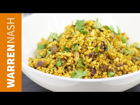 Video Cauliflower Rice Indian Recipe - Tasty low-cal fried rice - Recipes by Warren Nash