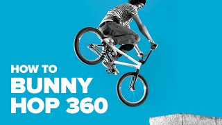 Как сделать баннихоп 360 на BMX (How to Bunny hop 360 on BMX)
