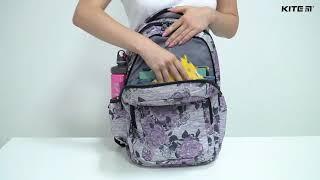 """Рюкзак Kite Education K20-903L-3 от компании Интернет-магазин """"Радуга"""" - школьные рюкзаки, канцтовары, творчество - видео"""