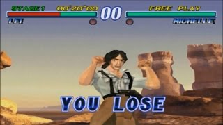 Tekken 2: All Lose Poses - All Characters (Time Up)