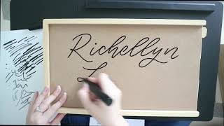 Lettering di Kayu - Letteringandlife first video - How to write in wood surfaces! Handlettering Idea