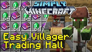 Easy Villager Trading Hall Tutorial with Zombie Discounts | Simply Minecraft (Java Edition 1.16)