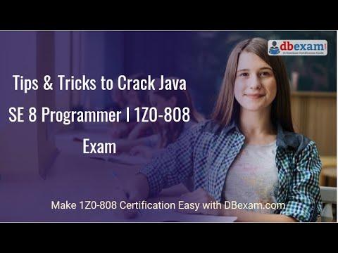 Tips & Tricks to Crack Java SE 8 Programmer I 1Z0-808 Exam ...