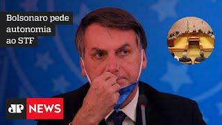 Bolsonaro garante ter plano 'pronto' contra a Covid-19, mas diz que 'nunca teremos lockdown'