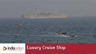 Luxury cruise ship at Vizhinjam port