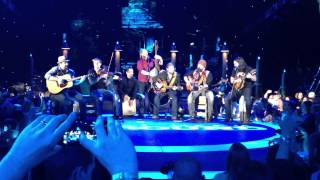 "Zac Brown Band sings ""Amy"" at free concert after ACM Fan Jam in Vegas last year"