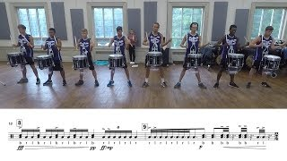 "2019 Carolina Crown Snares - LEARN THE MUSIC to ""Dark Clouds"""