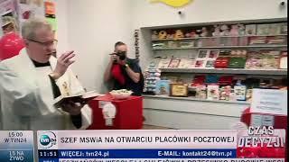 Polska XII wiek, modlitwa i święcenie placówki pocztowej…