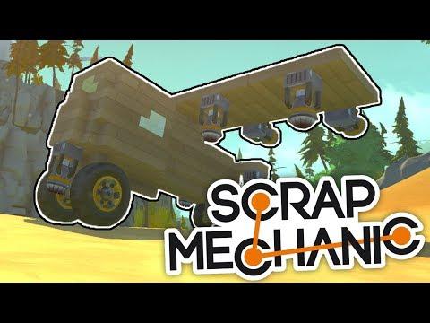 KDO DOLETÍ DÁL SE SVÝM LETADLEM? - Scrap Mechanic! #2 w/Porty