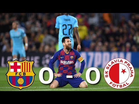 Barcelona vs Slavia Prague 0-0 – All Highlights