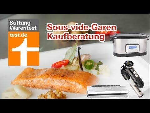 Sous-vide-Garen Kaufberatung: Stick oder Tank? (Test Stiftung Warentest)