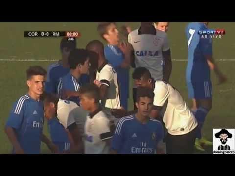 Com briga e gol nos acréscimos, Corinthians bate Real Madrid e avança a semifinal no mundial sub-17