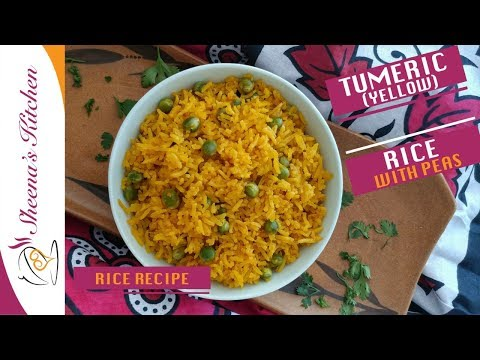 TURMERIC RICE WITH PEAS | YELLOW RICE | SHEENAS KITCHEN