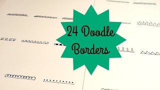 24 SUPER SIMPLE DOODLE BORDERS | ZENTANGLE PATTERNS | SOLLOMIO